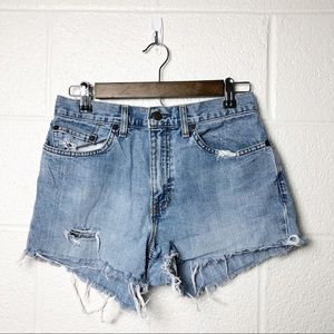 GAP Loose Fit Denim Distressed Shorts NWOT